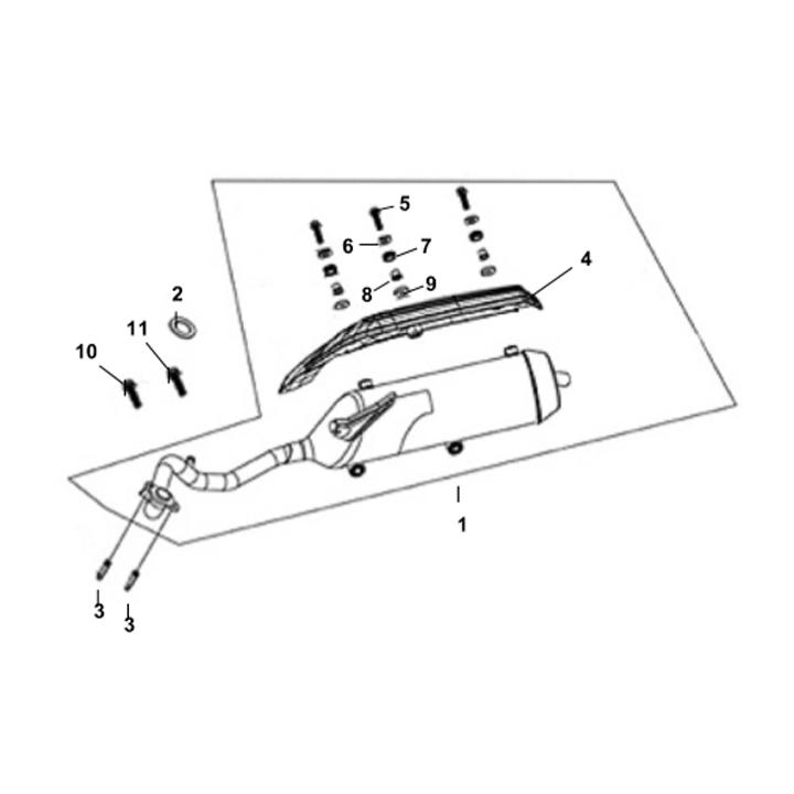 F16 - Exhaust Muffler for 125cc Lance PCH
