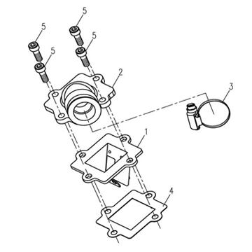 Reed Valve For 50cc 2 Stroke Ac Minarelli Engines
